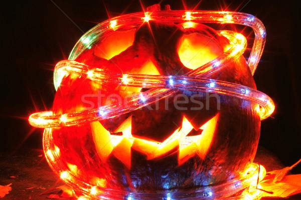 Stock photo: halloween pumpkin