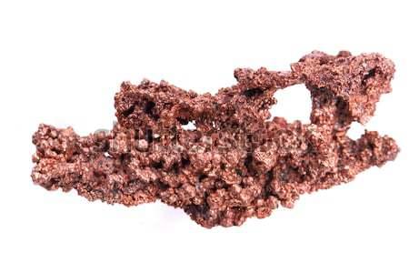 Stock fotó: Természetes · réz · izolált · fehér · kő · kő