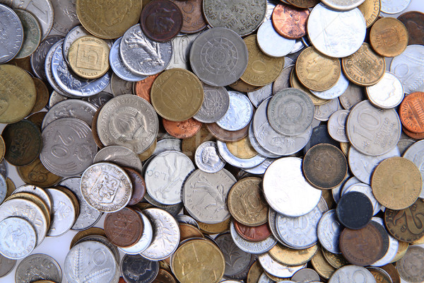 Stock photo: old european coins