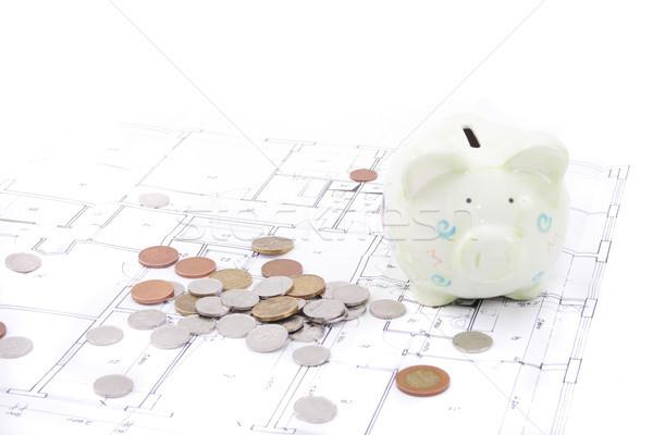 your saving and house plan Stock photo © jonnysek