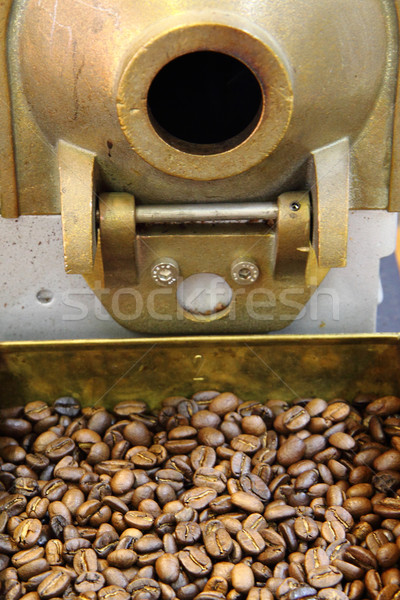 Stock photo: old coffee beans machine as gourmet background