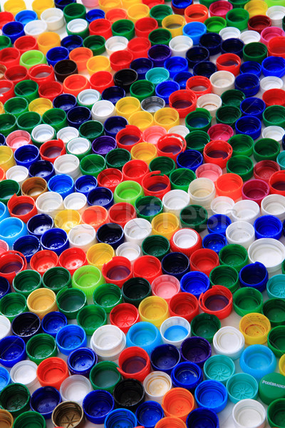 Stock photo: color plastic caps background