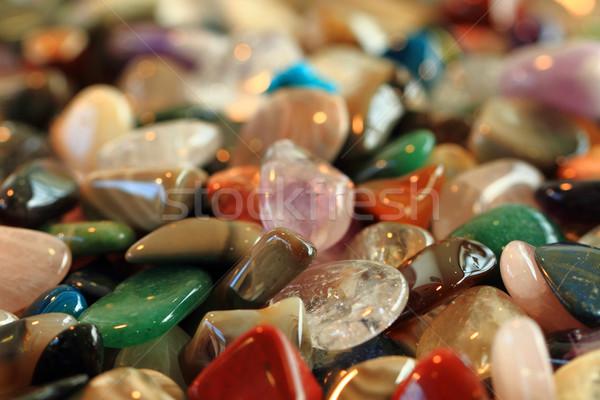 Kleur edelstenen textuur natuurlijke mineraal groene Stockfoto © jonnysek