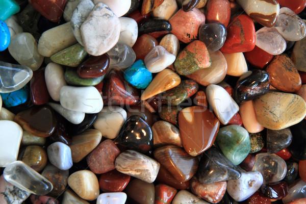 Renk mineraller güzel doğal doku mavi Stok fotoğraf © jonnysek