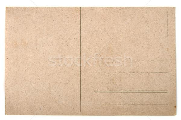 old empty postcard from the back side Stock photo © jonnysek