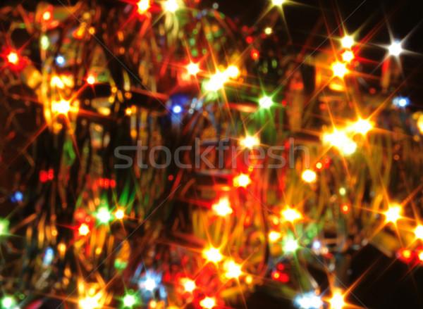 Noël lumières atmosphère couleur fête nature Photo stock © jonnysek