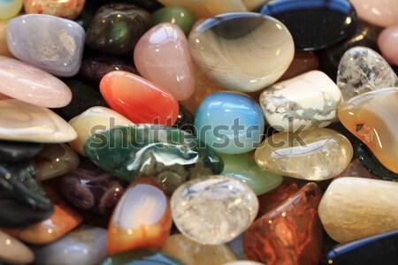 Szín üveg kövek szép absztrakt ajándék Stock fotó © jonnysek