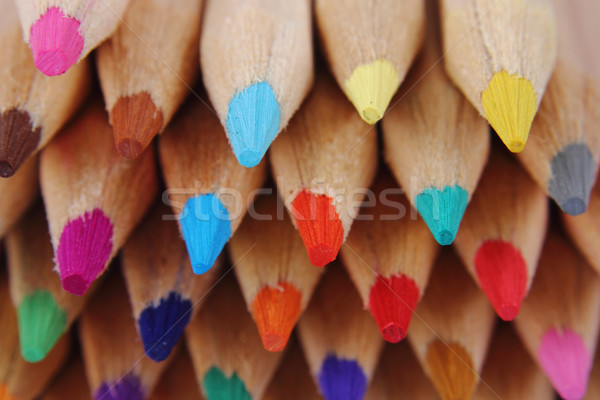 Szín zsírkréták szép oktatás terv diák Stock fotó © jonnysek