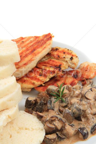Tavuk et mantar sos güzel gurme gıda Stok fotoğraf © jonnysek