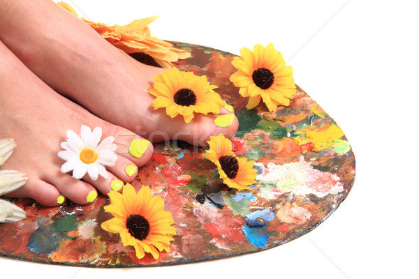 Mulheres pé cores pedicure bom saúde Foto stock © jonnysek