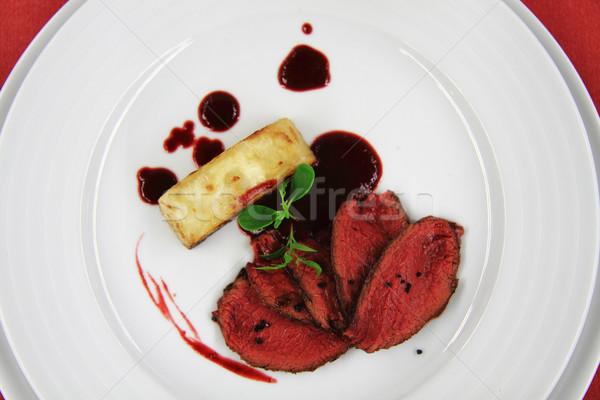Kereviz biftek gurme gıda gıda arka plan Stok fotoğraf © jonnysek