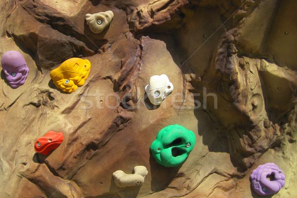 скалолазания стены текстуры Nice спорт фитнес Сток-фото © jonnysek