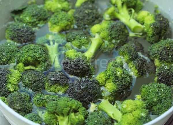 Brócolis água pronto verde salada vegetal Foto stock © joruba