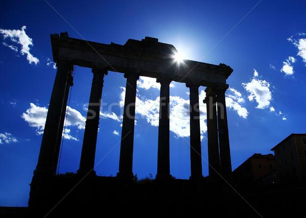 Antigo coluna romano fórum ruínas edifício Foto stock © joruba