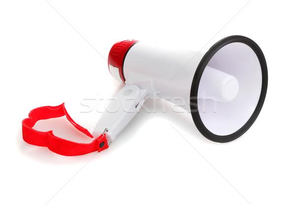 Megafon yalıtılmış beyaz el telefon konuşmacı Stok fotoğraf © joruba