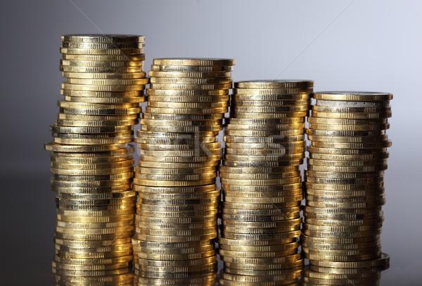 Moedas quatro moeda dinheiro financiar banco Foto stock © joruba