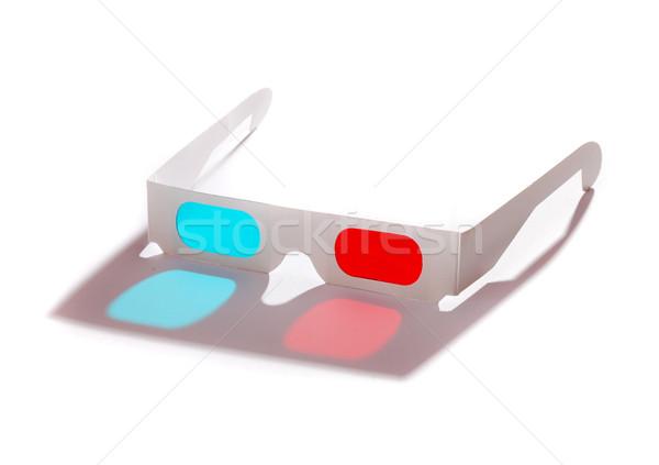 óculos 3d par isolado branco tecnologia arte Foto stock © joruba