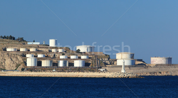 Óleo mar panorama ver praia água Foto stock © joruba