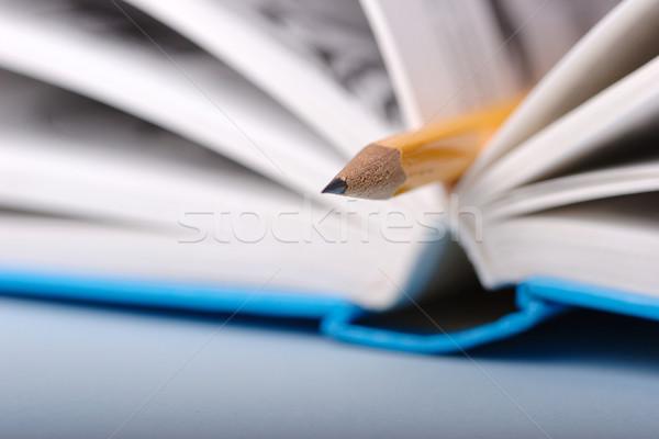Lápis livro amarelo papel escolas trabalhar Foto stock © joruba