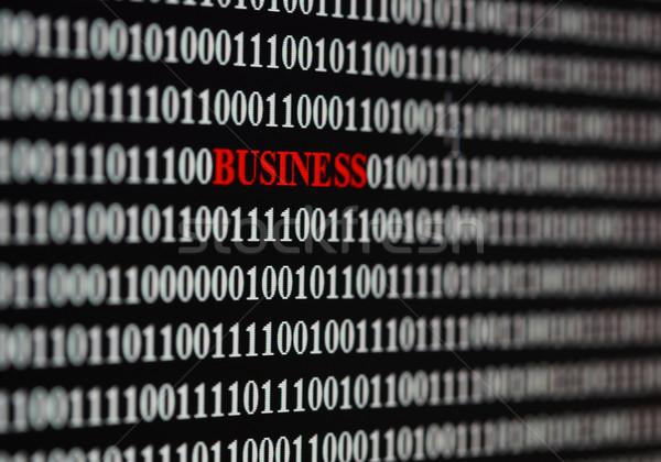Negócio palavra digital números mundo segurança Foto stock © joruba