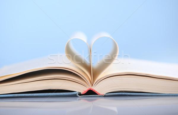 Book with heart shape Stock photo © joruba