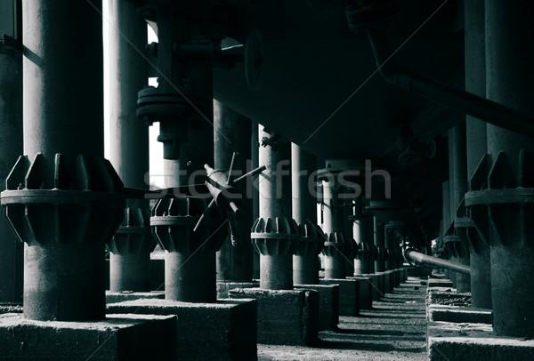 Industrial detalhes colunas luz concreto sujeira Foto stock © joruba
