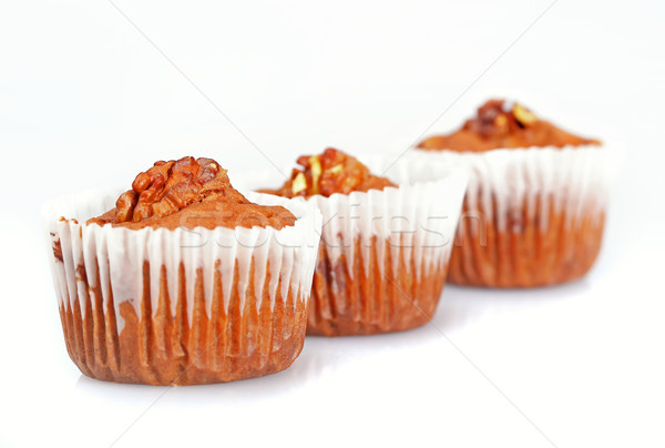 Lezzetli yalıtılmış beyaz gıda kek Stok fotoğraf © joruba