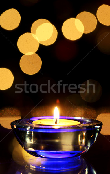 Vela ardente luz fogo preto Foto stock © joruba