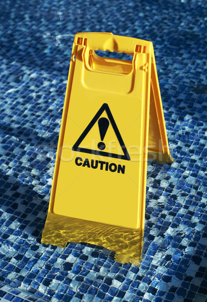 Slippery surface warning sign Stock photo © joruba