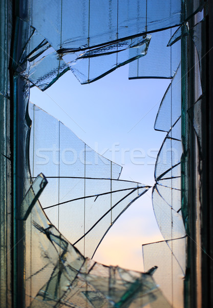 Broken window glass  Stock photo © joruba