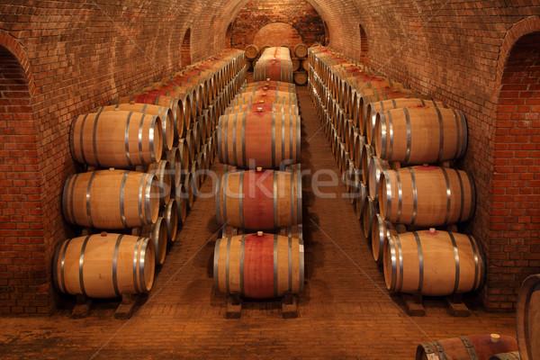 Wine barrels in wine-cellar Stock photo © joruba
