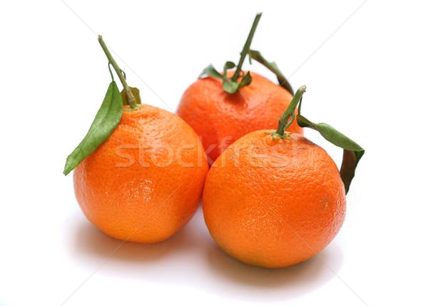 Laranjas três fruto de laranja isolado branco comida Foto stock © joruba