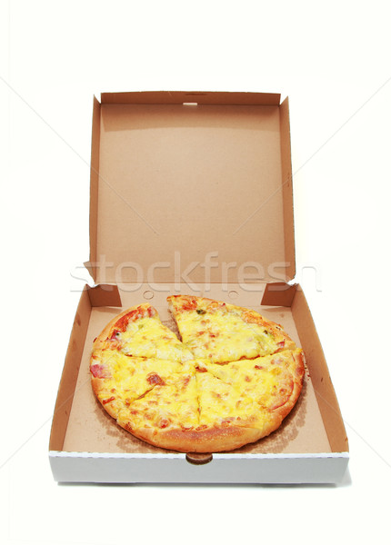 Pizza entrega caixa comida acondicionamento italiano Foto stock © joruba