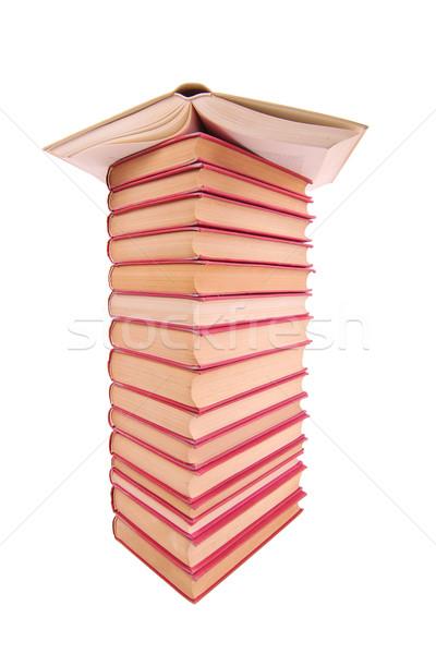 Kitaplar kullanılmış beyaz kitap okul Stok fotoğraf © joruba