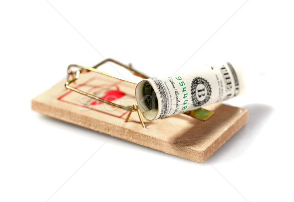 Money on mouse trap Stock photo © joruba