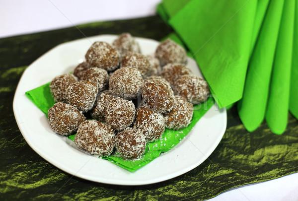 Prato verde chocolate bola doce Foto stock © joruba