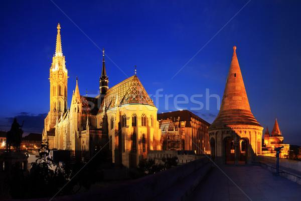 Igreja Budapeste noite edifício cidade Foto stock © joruba