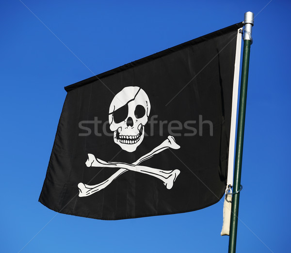 Flag of a Pirate skull and crossbones Stock photo © joruba