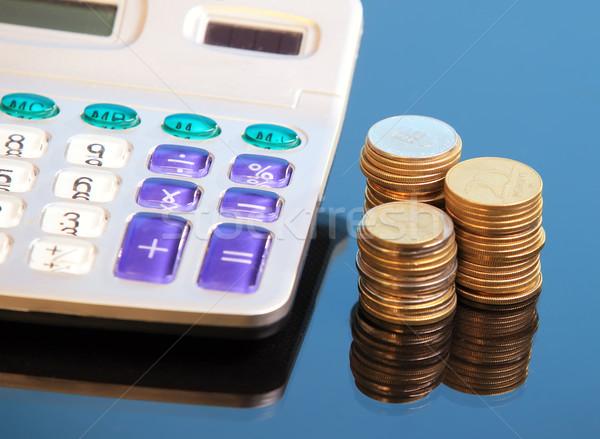 Calculadora moedas pormenor negócio mercado estoque Foto stock © joruba