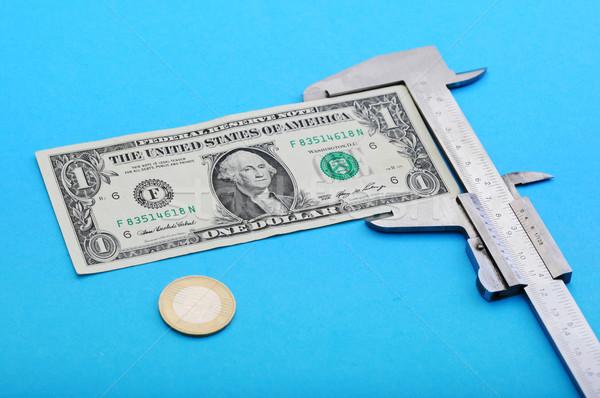 Dinheiro nota negócio metal azul Foto stock © joruba