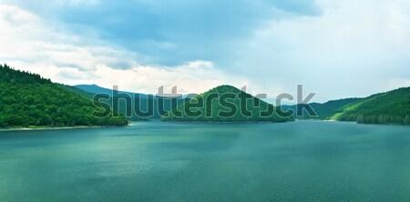 Górskich jezioro charakter krajobraz deszcz lata Zdjęcia stock © joseph73