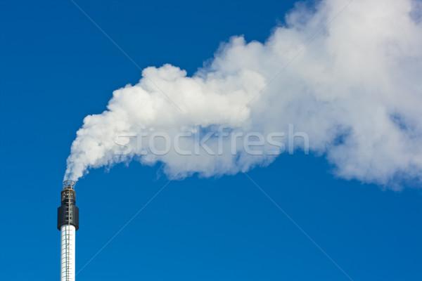 Smoke against blue sky Stock photo © joseph73