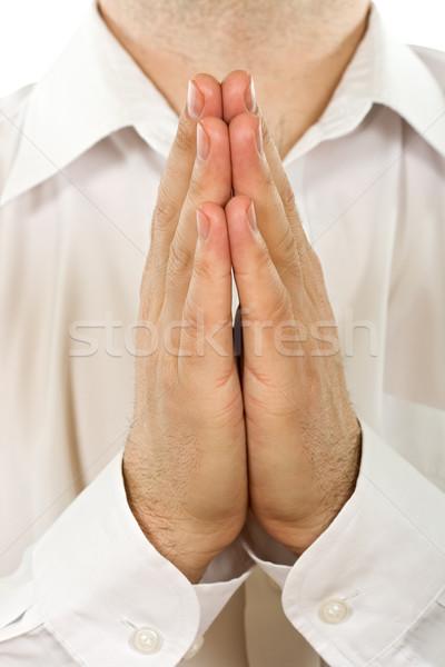 Pray person Stock photo © joseph73