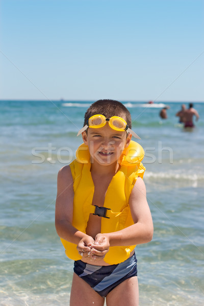 Boy at the sea Stock photo © joseph73
