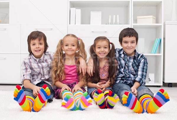 Children with colorful socks Stock photo © joseph73