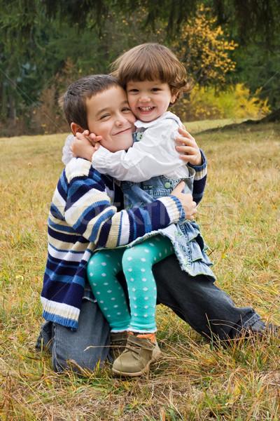 Szczęśliwy dzieci inny dwa uśmiech Zdjęcia stock © joseph73