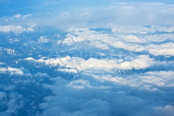 Góry widok z lotu ptaka alpy niebo charakter krajobraz Zdjęcia stock © joseph73