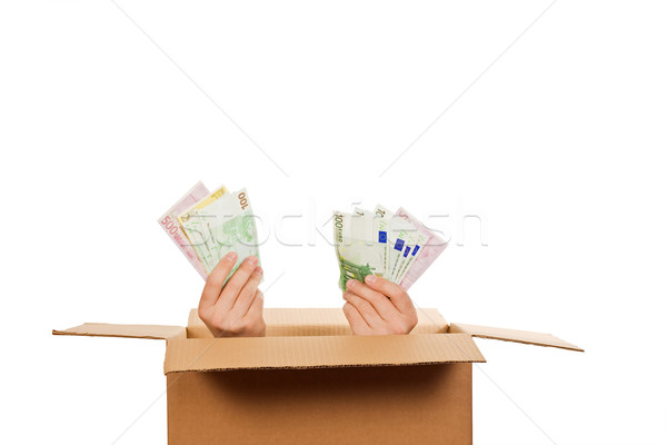 Stock photo: Hands with money