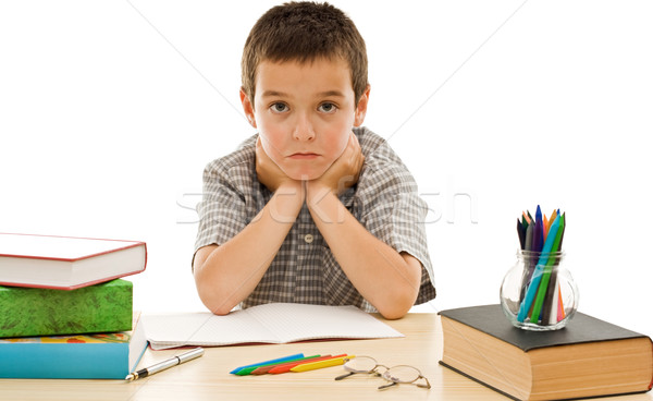 Schoolboy make grimace Stock photo © joseph73