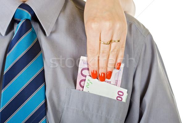 женщину из деньги кармана бизнеса Сток-фото © joseph73
